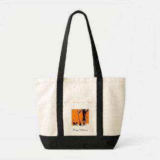 Witch and Black Cat Impulse Tote Impulse Tote Bag