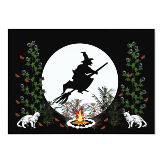 Witch and Cats Invitations