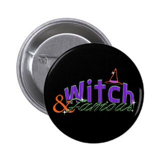 Witch and Famous Halloween button