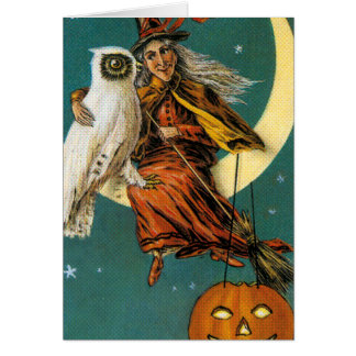 Witch and Her Owl Card
