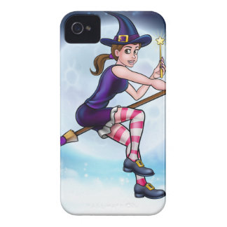Witch and Magic Wand Halloween Cartoon Character iPhone 4 Case
