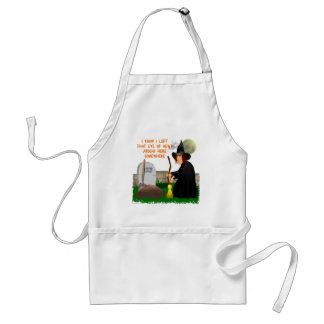 Witch and Newt Halloween Apron