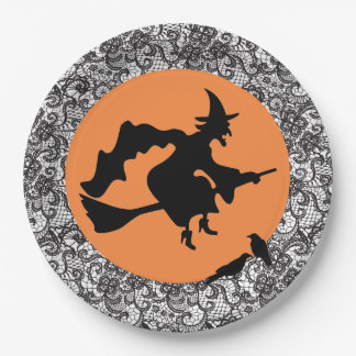 WITCH AND OLD LACE PAPER PLATE