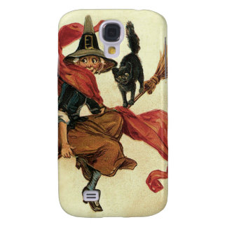 Witch Black Cat Broom Samsung Galaxy S4 Covers