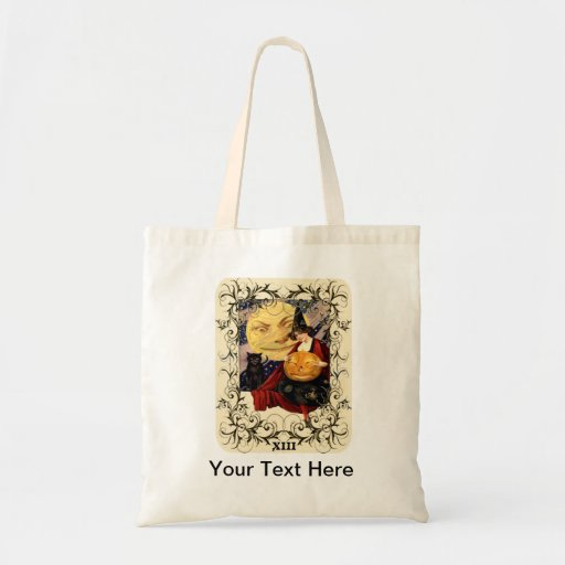 Witch & Black Cat Tote Bag