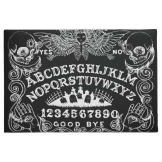 Witch Board Black Door Mat