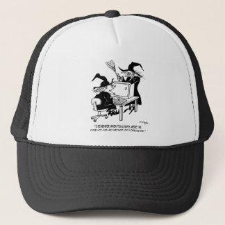 Witch Cartoon 4864 Trucker Hat
