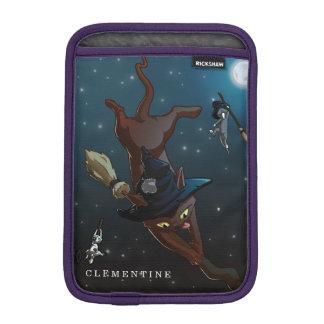 Witch Cat Apprentices Cartoon Illustration iPad Mini Sleeve