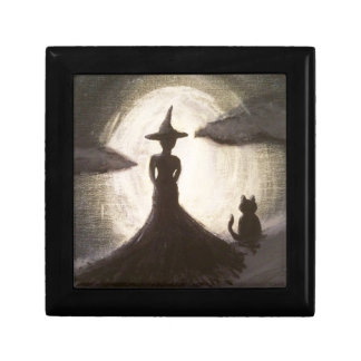 Witch & Cat in Silhouette Gift Box