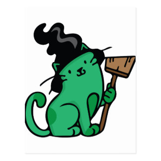 Witch Cat Postcard