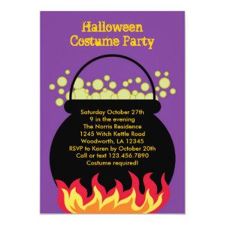 Witch Cauldron Halloween Party Invitation