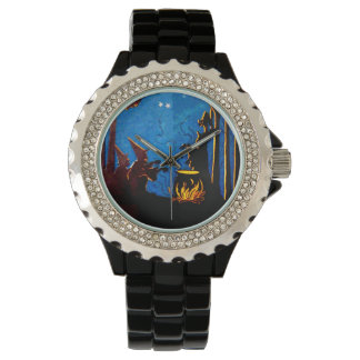 Witch Cauldron Night Vintage Halloween Wristwatches