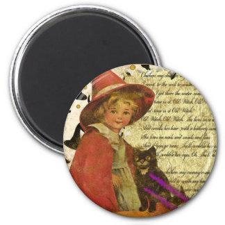 witch-child 6 cm round magnet
