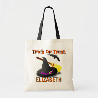 Witch Custom Name Trick or Treat Bag