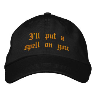 Witch Embroidered Cap