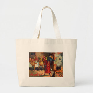 Witch Feeding Devils And Creatures Jumbo Tote Bag