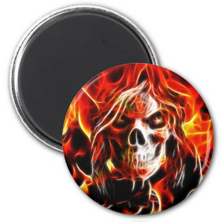 Witch Fiery Skull Magnet