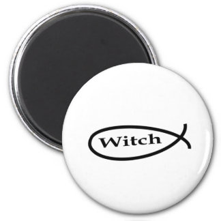 Witch Fish 6 Cm Round Magnet