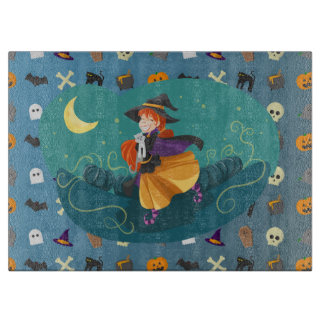 Witch for child cutting board