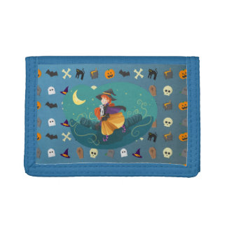 Witch for child tri-fold wallet