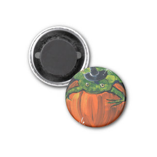Witch Frog 3 Cm Round Magnet