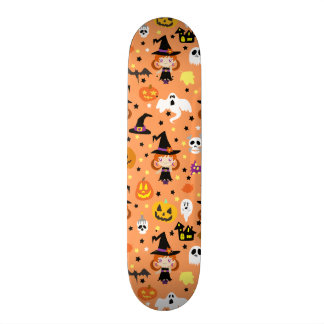 Witch Girl Halloween Pattern 20.6 Cm Skateboard Deck