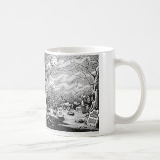 Witch & Graveyard Coffee Mug