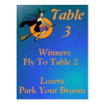 Witch Halloween Bunco Table Card Number 3