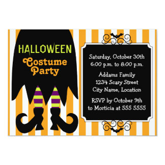 Witch Halloween Costume Party Invitation