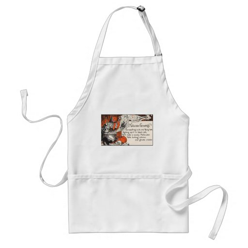 Witch Halloween Greetings Apron