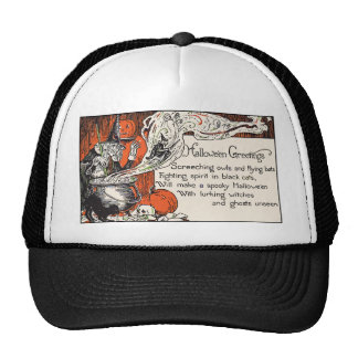 Witch Halloween Greetings Mesh Hat