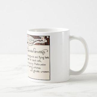 Witch Halloween Greetings Coffee Mugs