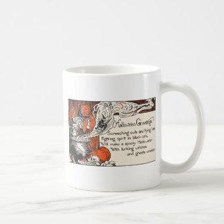 Witch Halloween Greetings Mugs