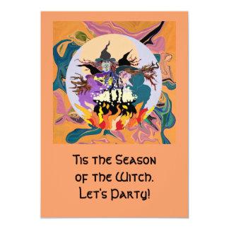 witch halloween Invitation