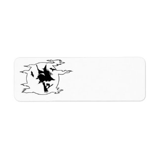 Witch Halloween Label- customizable background col Return Address Label