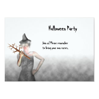 Witch - Halloween Party Invitation