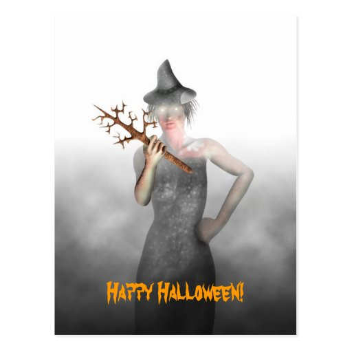 Witch - Halloween Postcard