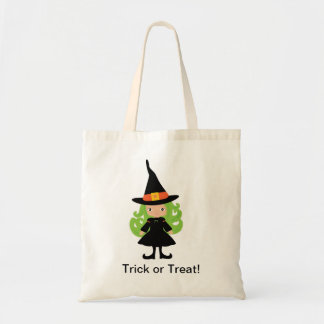 Witch Halloween Trick or Treat Bag Tote
