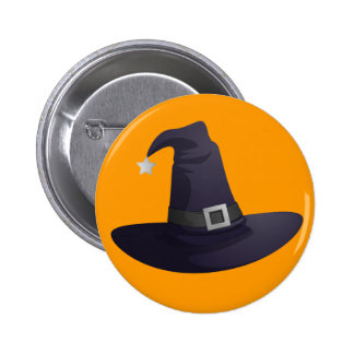 Witch Hat Pinback Button