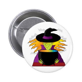 Witch Hat Pod 6 Cm Round Badge