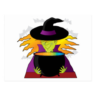 Witch Hat Postcard
