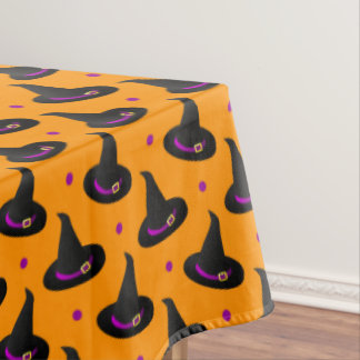 witch hats halloween pattern tablecloth