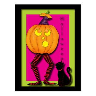 witch-in-a-pumpkin postcard
