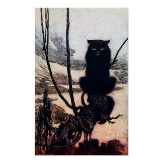 Witch in Cat Form Poster