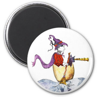 Witch in Eggshell Magnet
