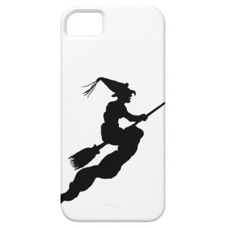 Witch in Flight on Broom Silhouette iPhone 5 Cover