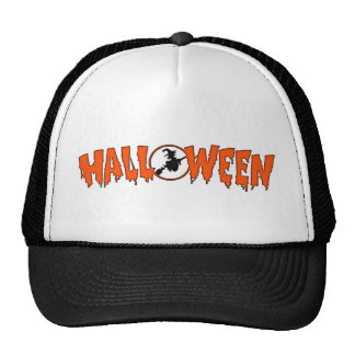 Witch In Halloween Greeting Hats
