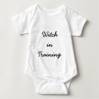 Witch in Training Infant Bodysuit in White