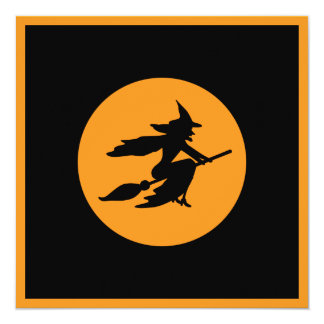 Witch 13 Cm X 13 Cm Square Invitation Card
