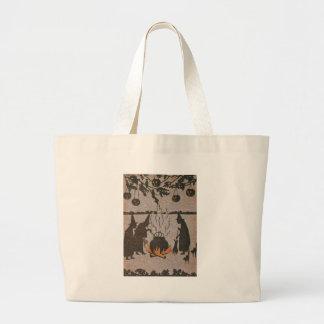 Witch Jack O' Lantern Cauldron Owl Jumbo Tote Bag
